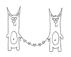 Free Printable Embroidery Patterns | cat embroidery pattern 14 Days of Love Freebie Kitty Love Embroidery ...