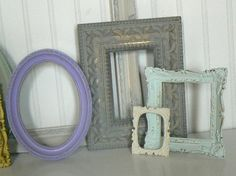 loving the colors of these antique frames