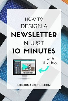 How to design an email newsletter in just 10 minutes using canva. With a video :) no more putting off your newsletters, learn to create and design a professionally looking email newsletter in just 10 quick minutes using canva. click here for blog and biz tips.
