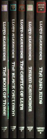 The Chronicles of Prydain Boxed Set (The Chronicles of Prydain #1-5) by Lloyd Alexander http://www.goodreads.com/book/show/463063.The_Chronicles_of_Prydain_Boxed_Set