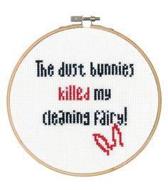 Say It! in cross stitch-Dust Bunnies