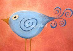 Curli Bird Art Prints by Sarah Fisher