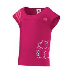adidas Mädchen Shirt LG Rock It Graphic Tee pink buzz s10 neon pink neon pink