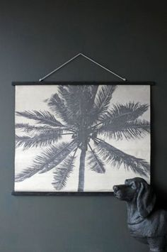 Large Palm Print Canvas Wall Hanging
