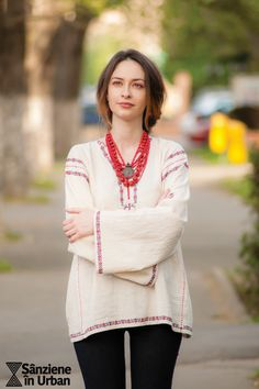 Sanziene in Urban 2016 Photo by Radu Niculescu Bell Sleeves, Bell Sleeve Top, Folk Fashion, Fashion Today, Needlework, Tunic Tops, Urban, Embroidery, Romania