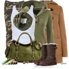 Without the pants I wouk d put dark jeans with it instead but I love the fall colors