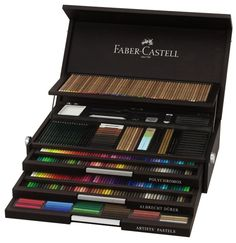 Faber Castell Anniversary Limited Edition Wooden Case - Art Supply Box of my dreams......