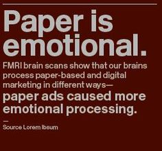 Paper is emotional. *Get the tissues ready! #powerofpaper #IPD14 #colorandtexture