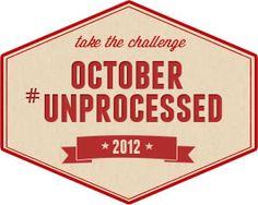 October Unprocessed Week 1 Meal Plan