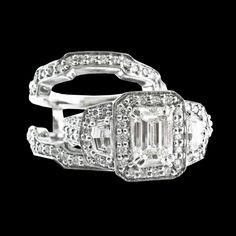 Diamond Wedding Set  www.facebook.com/ozcaninc. www.ozcaninc.com.