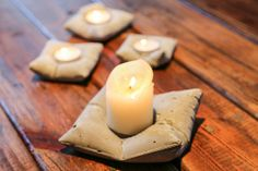 Concrete Pillow Candle Holder. Medium Size by GeckoStore on Etsy, $14.00