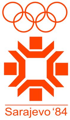 Logo of the 1984 Winter Olympic Games - Sarajevo, Yugoslavia