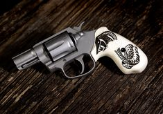VZ Grips with the 320 texture are perfect for custom engravings. Custom engravings are one of the added bonuses that VZ Grips customers can take advantage of through our custom engraving shop. Revolver, Custom Engraving, Hand Guns, Texture, Shop, Firearms, Surface Finish, Pistols, Revolvers