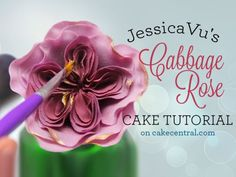 Gumpaste Cabbage Rose - Tutorial - Cake Central