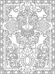 15 Halloween Desenhos para Colorir   Dover Publications, Day Of ...