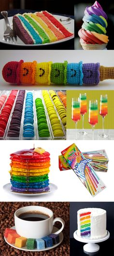 I love rainbow colors :) especially the rainbow cake mmmm rainbow foodstuffs-o - The RAINBOW of OUR LIFE Rainbow Treats, Rainbow Food, Love Rainbow, Taste The Rainbow, Rainbow Unicorn, Over The Rainbow, Rainbow Colors, Rainbow Things, Rainbow Desserts