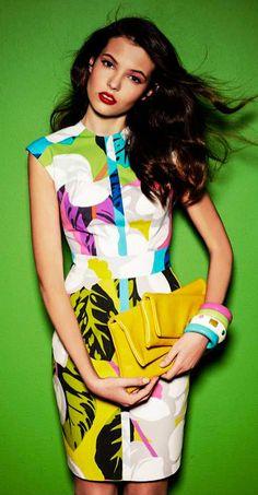 Tropica print dress