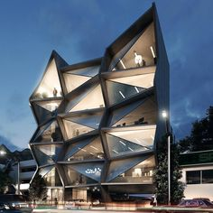 Office Building by Cota Arquitectos. Image:RV Visualization •#Arc_Only