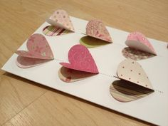Stiched Hearts Card by SpoilingDoilies on Etsy, $5.50