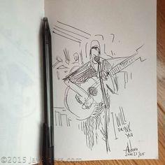 Dave Matthews & Carter Beauford, sketch by Jay Alders