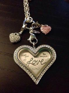 Origami owl #new heart locket with limited edition heart plate. Plus 2 pave heart #dangles.