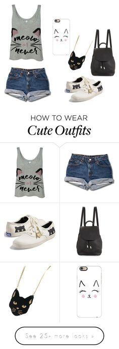 """Purrrrrrrrfect"" by tittyara on Polyvore featuring Keds, Casetify, Chicnova Fashion and rag & bone"