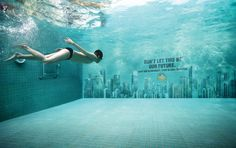 Another Brilliant Climate Change Ad Campaign  Global Warming Warnings Go Underwater