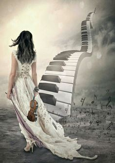 Music can be a stairway to heaven on We Heart It Arte Do Piano, Piano Art, Beste Songs, Stairway To Heaven, Music Lovers, Belle Photo, Music Is Life, Love Art, Art Pictures