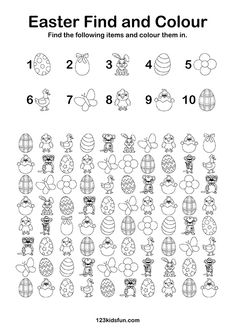 free easter coloring pages for kids \ free easter coloring pages ; free easter coloring pages for kids ; free easter coloring pages printables ; free easter coloring pages for adults ; free easter coloring pages jesus Preschool Math Games, Free Activities For Kids, Learning Games For Kids, Easter Activities, Easter Crafts For Kids, Free Preschool, Kid Games, Preschool Learning, Fun Math