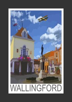 Wallingford market square, Oxfordshire (Art Print)