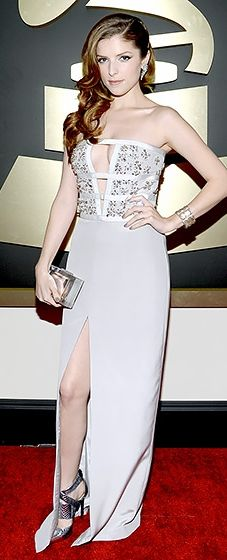 Anna Kendrick is pitch perfect in Azzaro at the 2014 Grammy Awards