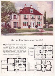 This is the Morgan Plan from 1923... and I LOVE IT!  I would want more bathrooms, but love this floor plan.