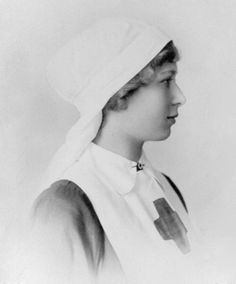 In 1923 Princess Mary (who had volunteered as a nurse as you can see from this picture taken in 1920)  and daughter of King George V, gave the RAFNS her royal patronage and the Service was renamed Princess Mary's Royal Air Force Nursing Service. Initially nurses from the PMRAFNS cared for patients in medical centres and rehab hospitals,as well as RAF and Military hospitals both in Britain and abroad.  They nursed patients prior to evacuation from the battle zone.