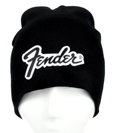 Fender Beanie Knit Cap High Quality Material Acrylic   Cotton   Polyester  One size fits most! Beanie cap to keep you warm and looking cool! b5f2e8375759