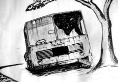 My School Days Sketch by Krishna Kumar, via Behance