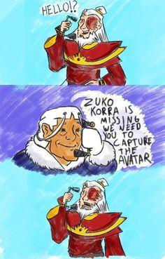 Zuko, Korra is missing. We need you to capture the Avatar. Hahaha too funny Avatar Airbender, Avatar Aang, Avatar The Last Airbender Funny, The Last Avatar, Avatar Funny, Team Avatar, The Legend Of Korra, Hiro Big Hero 6, Atla Memes