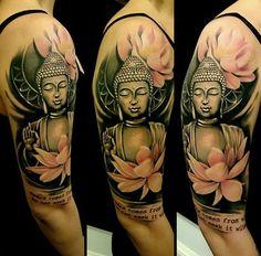 60 inspirierende Buddha Tattoo Ideen - Tattoo Motive - 60 inspirierende Buddha Tattoo Ideen You are in the right place about 60 inspirierende Buddha Tattoo - Buddha Tattoos, Buddha Tattoo Frau, Buddhism Tattoo, Buddha Tattoo Design, Buddha Buddhism, Buddha Lotus Tattoo, Line Tattoos, Trendy Tattoos, Body Art Tattoos