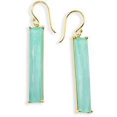 Ippolita 18K Rock Candy Turquoise Doublet Drop Earrings ($1,700) ❤ liked on Polyvore featuring jewelry, earrings, turquoise, clear crystal earrings, 18 karat gold earrings, green turquoise earrings, turquoise drop earrings and hammered jewelry