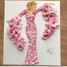 Ideas for fashion art creative flower dresses Arte Fashion, Floral Fashion, Fashion Fashion, Classic Fashion, Bohemian Fashion, Fashion Spring, Retro Fashion, Winter Fashion, Fashion Tips