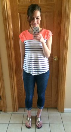 3. I like the way this top is both fitted and flowy.  Super cute!  stitch fix papermoon watford knit top