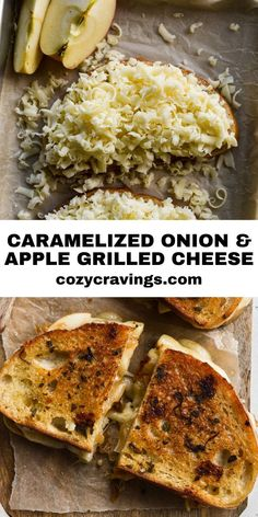 Best Grilled Cheese Sandwich Recipe, Apple Sandwich, Grilled Cheese Recipes, Grilled Sandwich Ideas, Easy Sandwich Recipes, Caramelized Onion Recipes, Caramelized Onions, Veggie Cheese, Breakfast