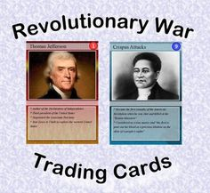 "Are you looking for a way to add interest to your Revolutionary War unit? Do you need more activities for your learning stations? ""Revolutionary War Trading Cards"" is a set of 54 trading cards highlighting famous persons, places, events and documents of early America. Print & laminate the cards to create a standard set of playing cards. ""Educational Trading Card Games"" details 3 original learning games. ""Creating Educational Trading Cards"" shows teachers and students how to make their own…"