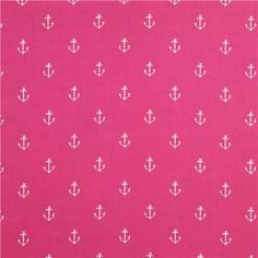 pink maritime anchor fabric by Michael Miller Pink Chevron Wallpaper, Fabric Wallpaper, Pattern Wallpaper, Pink Patterns, Textures Patterns, Fabric Patterns, Fabric Design, Pattern Design, Print Design