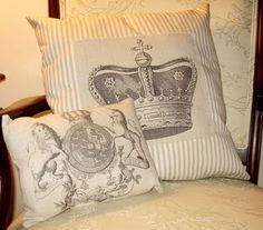 Regal Pillows - Printing on Fabric - The Graphics Fairy