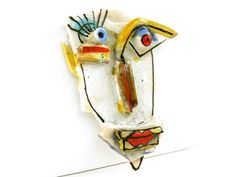 Abstract ceramic face Wall Art  3D wall art Ceramic by 99heads, $43.00
