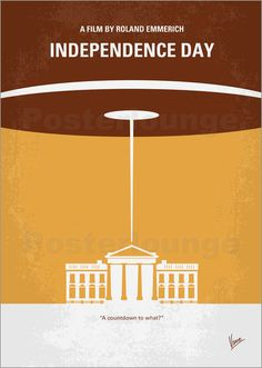 Poster No249 My INDEPENDENCE DAY minimal movie poster