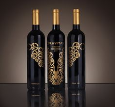 Gravitas (Student Work) on Packaging of the World - Creative Package Design Gallery Wine Bottle Design, Wine Label Design, Wine Bottle Labels, Wine Photography, Photography Logos, Red Wine Glasses, Wine Brands, Bottle Packaging, Packaging Design Inspiration