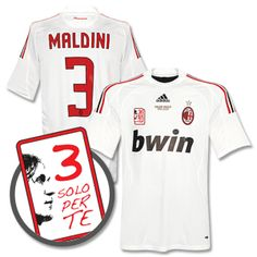 "My most priced football shirt - 2009 AC Milan away shirt, with ""Solo Per Te"" badge and ""Grazie Paolo"" gold stitch"