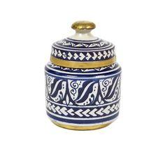 Moroccan Jar/Brass Barrel Shape
