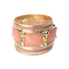 Peachy Pink 7 Piece Bangle Set!  #InspiredSilver #Bracelet  #New